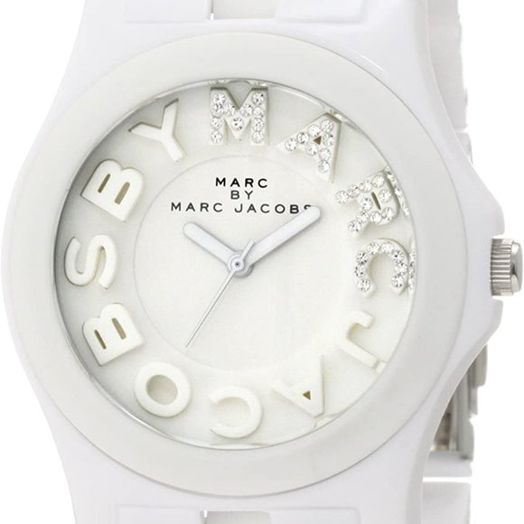Marc By Marc Jacobs White Silicone Quartz Watch